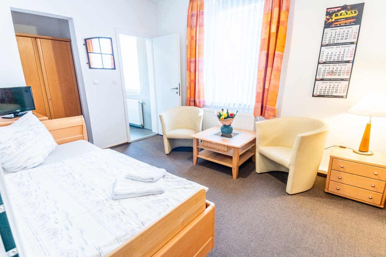 Zimmer der Pension in Bremen Insulaner